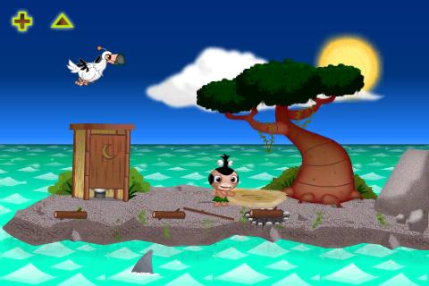 Jeden ze dvou ostrovů v Pocket God