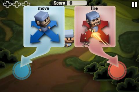Ovládání v Minigore je vám připoměno před každou hrou.