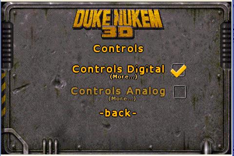 Výběr mezi digitálním a analogovým ovládáním.