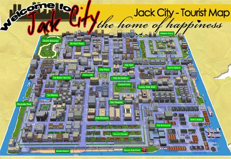 Mapa města v Car Jack Streets