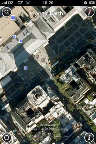 Google Earth - detailní přiblížení