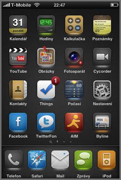 iPhone Illumine téma pro WinterBoard