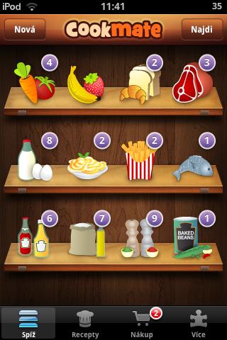Cookmate - přehled kategorií