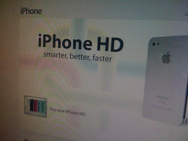 Nový iPhone HD v 5 barevných variacích.