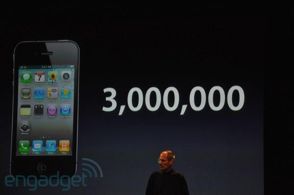 3 miliony prodaných kusů iPhone 4