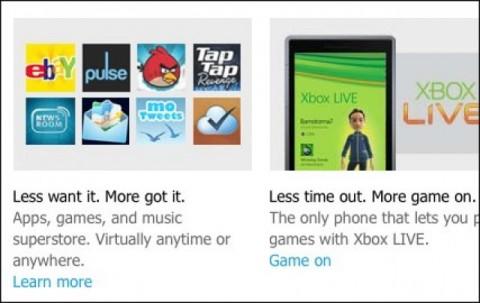 """Ikonka Angry Birds a NotifyMe byla v reklamních materiálech WP7 trochu """"navíc"""""""