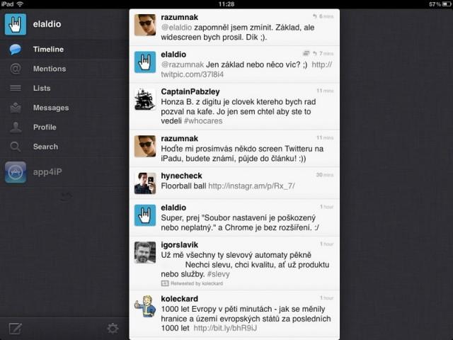 Twitter pro iPad
