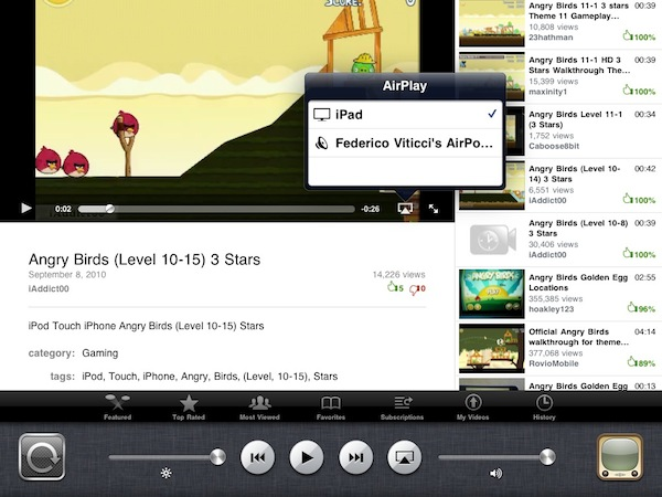 iOS 4.2 AirPlay