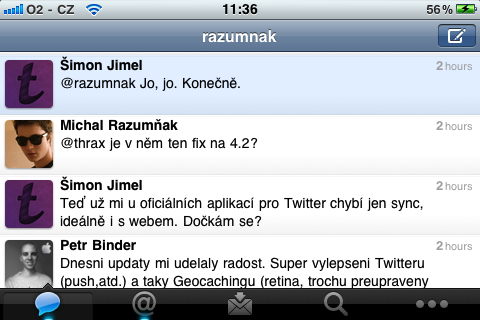 Twitter pro iPhone