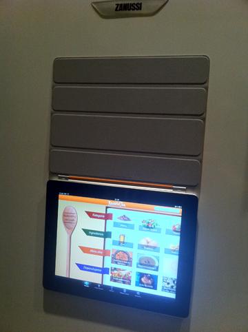 iPad 2 na lednici