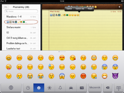 Emoji klávesnice