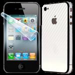 IPHONE 4S – OCHRANA DISPLEJE + CARBON BÍLÝ
