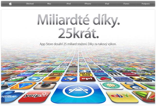 25 miliard stažených aplikací