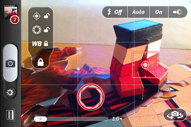 Camera+ | zámek AF a AE