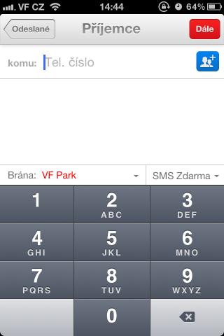 SMS Oskárek - adresát