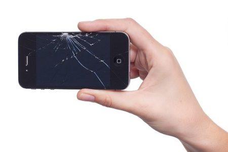 mobil prasklý displej