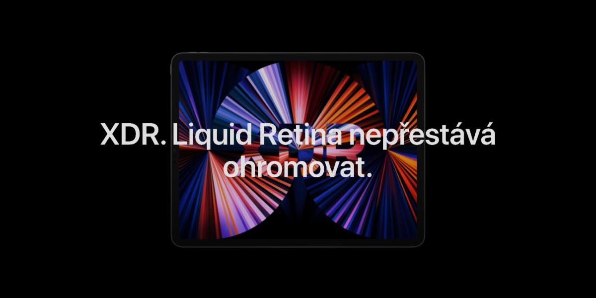 Mini-LED displej Liquid Retina XDR