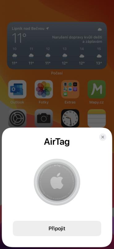 Nastavení AirTagu 1
