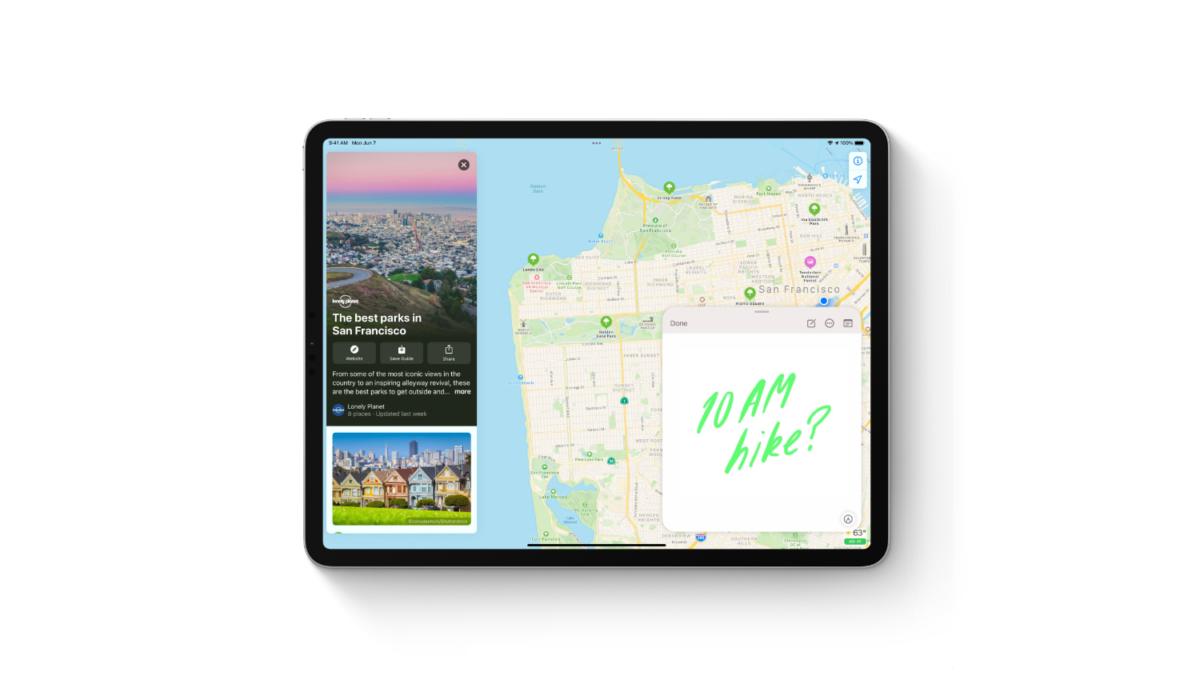 Quick Notes v iPadOS 15