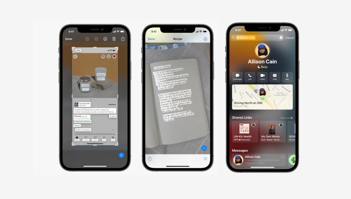 rozpoznání textu v iOS 15